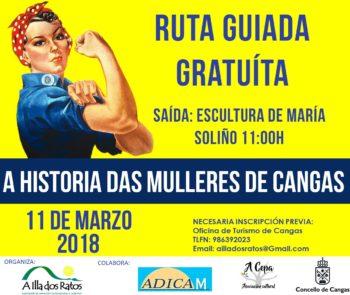cartaz ruta historia das mulleres de cangas